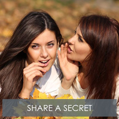 Share a Secret With Your Friends & Enjoy 20% Off