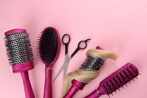 curly-hair-brush harmony hair salon dunstable